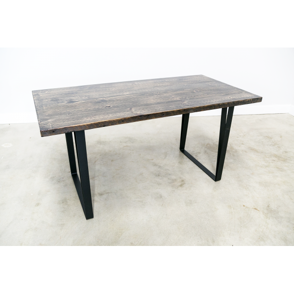 U-Shaped Reclaimed Wood Desk